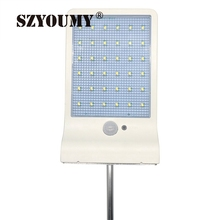 SZYOUMY 36 LED Street Solar Gutter Lights Wall Sconces With Mounting Pole 36LED Outdoor Motion Sensor Detector Light for Barn(China)
