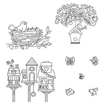 Little birds stamp TPR silicon clear Stamp rubber seal for DIY Scrapbooking/Card Making/ Decoration Supplies(China)