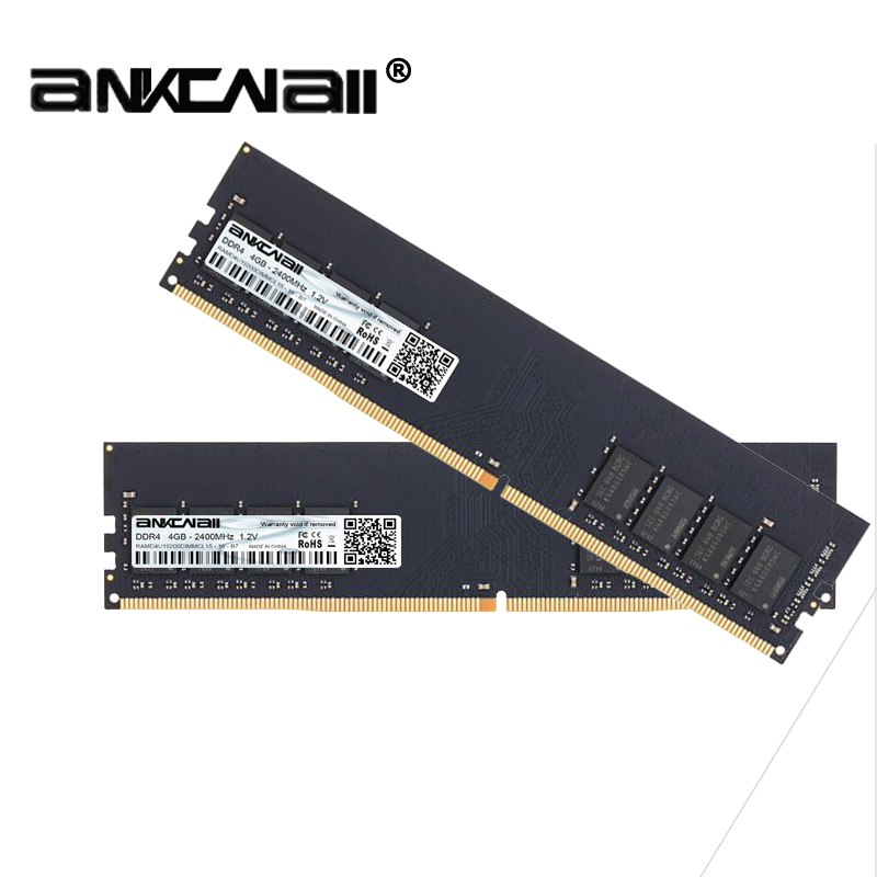 New ANKONALL ddr4  8GB (2PcsX4GB)  2133MHz 2400 MHz 2666 Mhz desktop memory, highly compatible with Intel and AMD systems