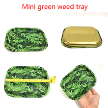Mini 18cm Rolling Tray Tobacco Storage Plate Discs for Smoke Green Weed Herb Grinder Water Pipe Hookah Shisha Glass(China)