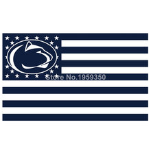 Penn State Nittany Lions Nation Flag 3ft x 5ft Polyester NCAA Banner Flying Custom flag 90x150cm(China)