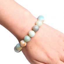 STENYA 10mm Stretch Bracelet Elastic natural stone Amazonite glass crystal cteated bead expandable jewelry pulseras bracelets