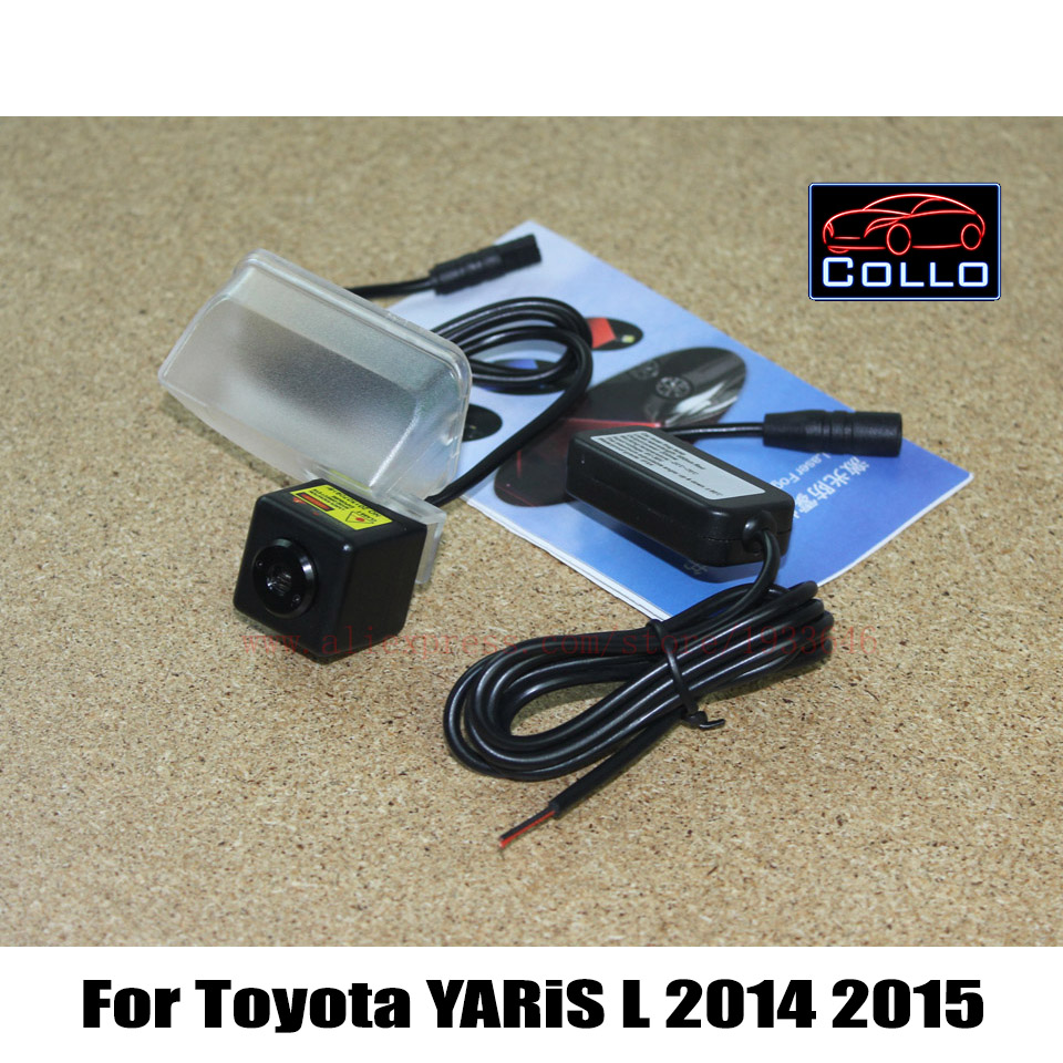 Newest Laser Tail Fog Lights For Toyota YARiS L 2014 2015 / 12V Car Styling Waterproof Anti Collision Rear-end Auto Warning Lamp<br><br>Aliexpress