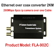 New Best HD IP CCTV System Ethernet Extender over coax converter 2KM for IP cameras, HD IP video transmit over coaxial cable