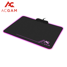 Original Black ACGAM P09  RGB Illumination 9 kinds of LED Colors lighting mode USB 2.0 Hard  Gaming mouse pad,13.8x9.8x0.14 inch