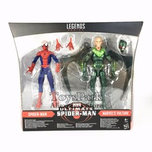 "ToysPark Marvel Legends Series 6"" Ultimate Spider Man & Vulture Action Figure 2017 2-Pack Walmart Exclusivite Collectible(China)"