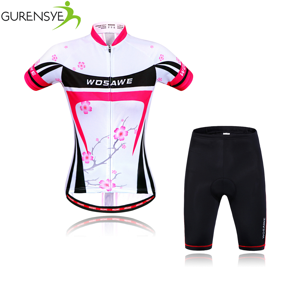 Gurensye 2017 Women Cycling Jerseys Bicycle Short Sleeve Road Bike Clothing Roupas De Ciclismo Equipacion Bicycle Sportswears<br><br>Aliexpress