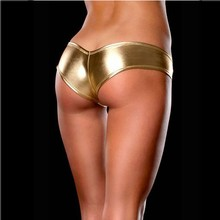 New Arriva 1Pc Special 5 Colors Sexy Metallic Lingerie G-String Lady Micro Thong Underwear Pants Bikini Briefs
