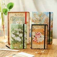 Creative restoring pocket diary Classical bind the laptop notebook thickening portable A6 notebook(China)