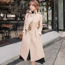 Buy 2018 spring fashion loose knitted trench coat women overcoat clothing long-sleeve female casaco sobretudo feminino elegant for $98.28 in AliExpress store