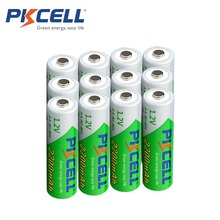 12 x PKCELL Bateria Recarregavel AA NiMH Low self-discharge Durable 1.2V 2200mAh Ni-MH Rechargeable Battery Batteries 2A Bateria