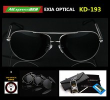 RX Customized Prescription Sunglasses Men with AR Green Coated Optical Lenses CR-39 EXIA OPTICAL KD-193 Series