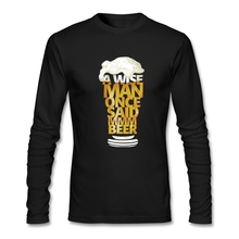 Beautiful O Neck Shirts MMM BEER Male's Comfortable Cotton Fabric Spring Apearl Man Full Sleeves shopping t shirts online