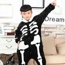 Halloween costume skeleton printed children's clothes set youth  children's clothing outfits
