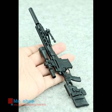 1/6 Scale MSR Modular Sniper Rifle Gun Black Remington MSR Weapon Military Action Figure Soldier Toys Parts Accessory
