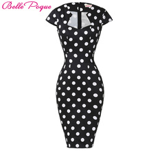 Belle Poque Women Plus Size Dresses Rockabilly Clothing Floral Summer Casual Party Office Sexy Pencil 50s Vintage Bodycon Dress - Official Store store