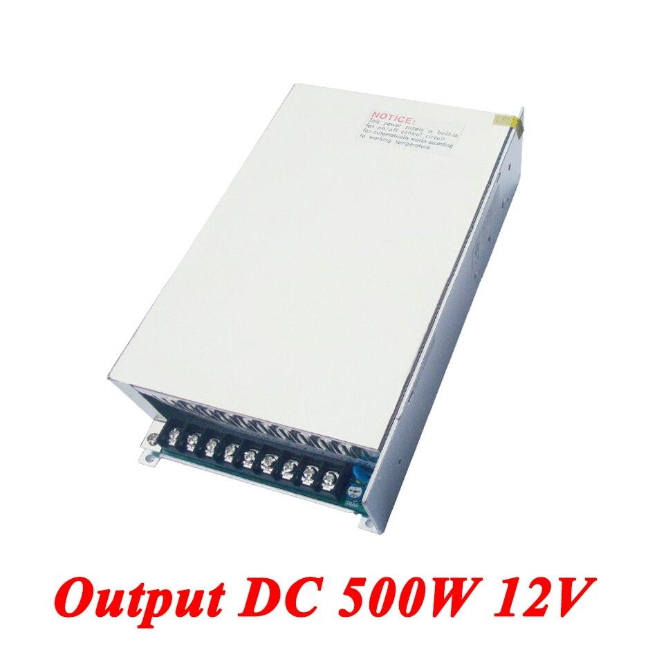 S-500-12 500W 12v 42A,Single Output Dc Switching Power Supply For Led Strip,AC110V/220V Transformer To DC 12V,led Driver<br>