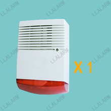 Wired Outdoor Siren Red Strobe Light Siren Alarm for Home Alarm