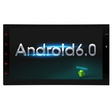 "Android 6.0 7"" Touch Screen Quad Core 2Din Stereo Audio Radio Support Fast-boot 16GB Headunit GPS Navigation+In Dash No DVD"
