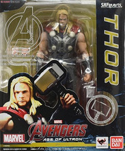 16cm Super Hero Avengers SHF S.H.Figuarts Thor with Hammer PVC Action Figures Collectible Model Toys Doll