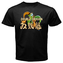 Double Dragon classic vintage arcade retro game street fighting T-Shirt Black