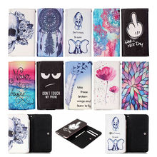 New Painting Leather Universal Wallet Pouch Case Card Slot Back Cover For HTC One M8 M9 A9 S9 E8 Desire 516 530 620 626 628 700