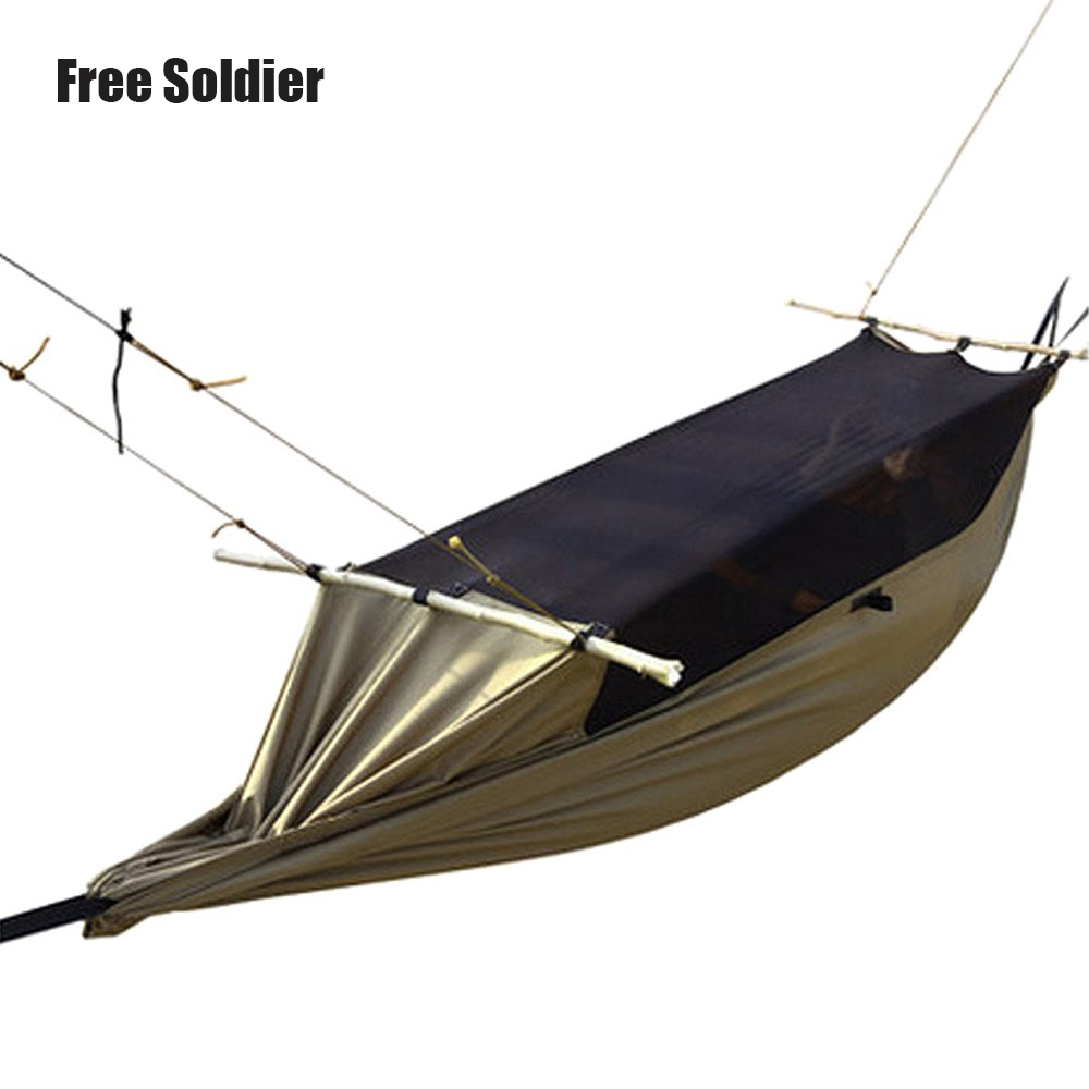 Outdoor Camping Hiking Tent Portable Green Mosquitoe Anti-tear Hammock Polyester Waterproof Large Tent for 1-2 Person<br>