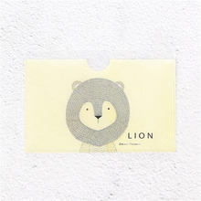 PACGOTH Fresh Preppy Style PVC Bus Name Card & ID Holders Unisex Cartoon Animals Prints Letter Lion Credit Card Holders 2 PCs(China)