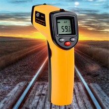 Non contact Digital Laser infrared thermometer GM320 -50~360C (-58~680F) Themperature Pyrometer IR Laser Point Gun For Industry(China)