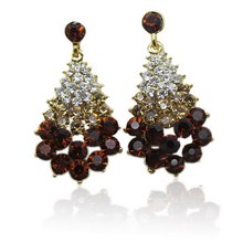 Marketing and Free Shipping, the European Fashion Jewelry, Wholesale Jewelry Crystal Earrings Charm Women