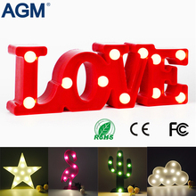 Flamingo LOVE Star 3D Shape Marquee LED Battery 3D Lamp luminary Desk Table Lamp For Kids Bedroom Home Decoration 3D Night Light