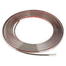10mm x 15m Car Chrome Styling Moulding Trim Edge Strip Auto Body Window Exterior Decoration