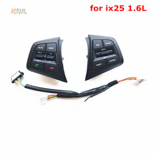 Steering Wheel Button For Hyundai ix25 1.6L Buttons Bluetooth Phone Cruise Control Volume channel Remote Steering Wheel Control(China)