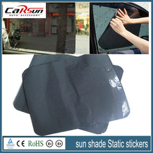 38*42cm 2 Tablets Air Black Grid Car Sun Shade Static Stickers Ultraviolet-Proof Sunscreen Insulation Summer light Transmission