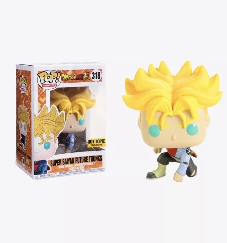 Exclusive Funko pop Official Amine Dragon Ball Z - Super Saiyan Future Trunks #318 Vinyl Action Figure Collectible Model Toy<br>