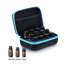 Newest 12 Compartment Storage Case Carrying Bag For 5ML 10ML 15ML Essential Oil Bottles(China)