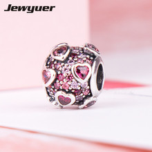 Buy Valentine's Day gift Explosion Love charms 925 Sterling Silver fine jewelry heart charm fit beads Bracelets DIY Jewyuer BE529 for $16.33 in AliExpress store