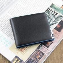 20pcs/lot Free shipping+2016 new stylish Men wallet+genuine Leather wallet brand+Pockets Clutch Cente Bifold Purse WMB143