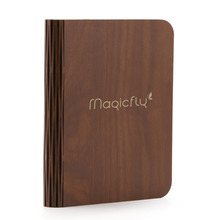 Magicfly USB Rechargeable Wooden Folding LED Book Light Novelty Book Style LED Night Light,Magnetic Lamp,Colorful(China)