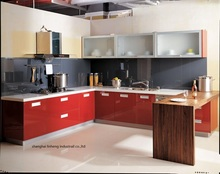 High gloss/lacquer kitchen cabinet mordern(LH-LA028)