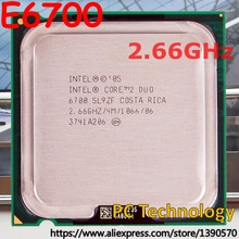 Original Intel Core 2 Duo E6700 Socket 775 processor CPU 2.66GHz 4M 1066MHz free shipping (ship out within 1 day) 100% test well(China)