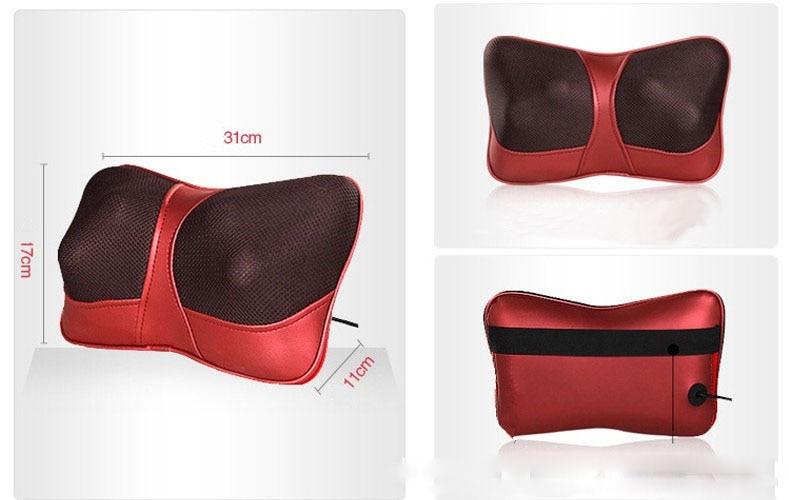 Infrared Heating Car Double Massage Device Neck Massage Pillow Car Massager Cushion,Car Seat Covers,Headrest<br><br>Aliexpress