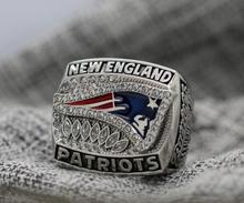 2011 New England Patriots NFC FOOTBALL Championship Ring 7-15 Size Copper Patriots Logo engraved inside FOR Tom Brady(China)