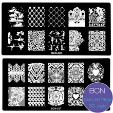 New 6*12cm Nail Stamping Plates 30 Style DIY Image Konad Nail Art Manicure Templates Stencils Salon Beauty Polish Tools 2017 Hot