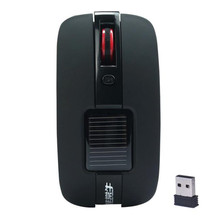 High Performance Solar Mouses Black Mini 2.4GHz Wireless Optical Mouse Mice For PC Laptop May29