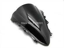 Smoke Double Bubble Abs Windscreen Windshield For 2007-2008 Yamaha YZF R1