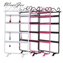 Jewelry Stand Display Earrings Necklace Pendant Ornament Holder Storage Rack 48Holes 24Pairs Bouches Bracelet Organizer Showcase