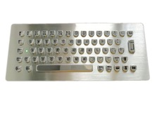 Humanized Metal Keyboard with U Shape Keys, Similar Indukey design keycap stainless steel industrial keyboard with USB/PS2