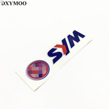 12x3.7cm Motorcycle Helmet Bike Car Sticker Decals for SYM MOTORCYCLE Reflective Car Styling