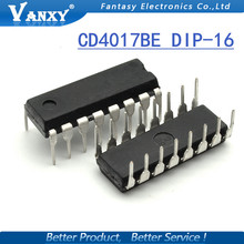10PCS CD4017BE DIP16 CD4017 DIP CD4017B new and original IC free shipping
